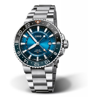 Oris Aquis Gmt Carysfort Reef Limited edition 01-798-7754-4185-set-mb
