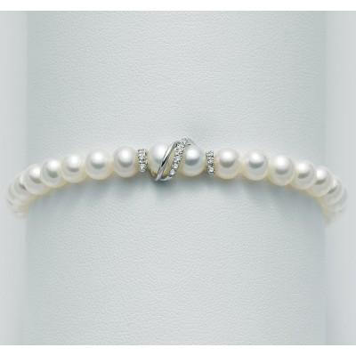 Bracciale Miluna Perle con Oro Bianco e Diamanti PBR1527