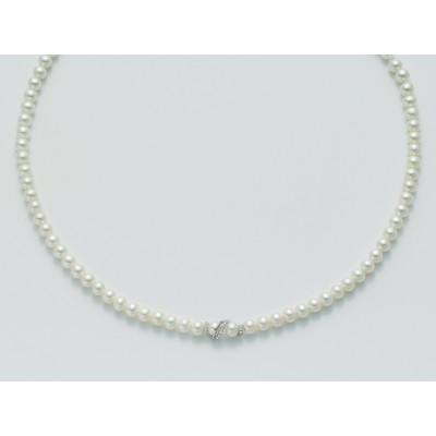 Girocollo Perle Miluna con Oro Bianco e Diamanti PCL3726