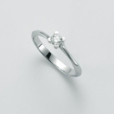 Anello Solitario Miluna Oro Bianco e Diamante LID3291-020G7