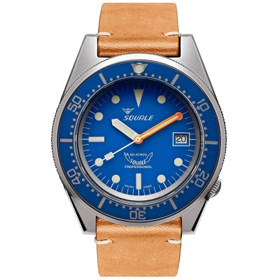 Squale Orologio 1521 Blue Blasted Leather