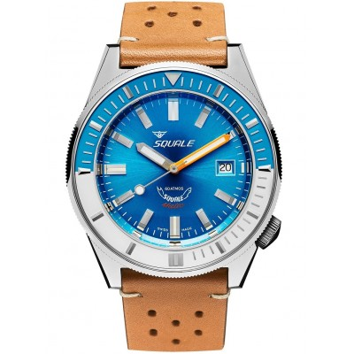 Squale Orologio Matic Light Blue Leather