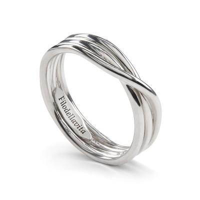 Anello filo della vita 3 fili Rock argento AN8A