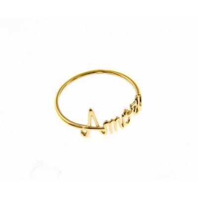 Anello oro giallo 18 KT. amore