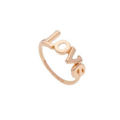 Anello oro rosa 18 KT. love