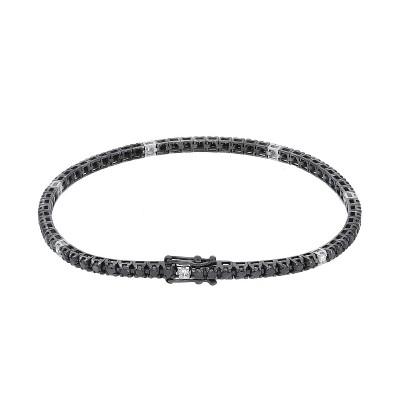 Bracciale Tennis diamanti neri