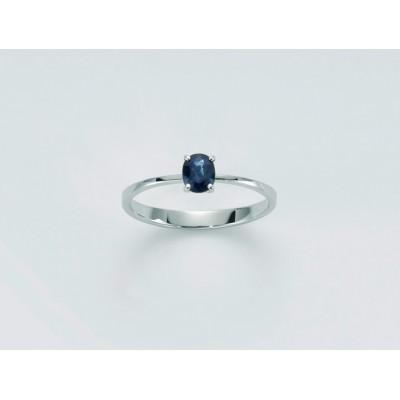 Anello Miluna zaffiro blu...