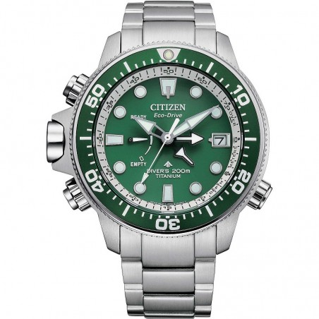 Citizen bn2040-84x promaster aqualand eco-drive quadrante verde